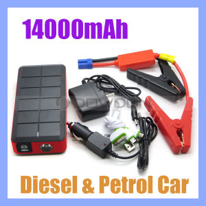 14000mAh Multi Function Phone Power Bank Charger Jump Starter for Diesel Cars pictures & photos