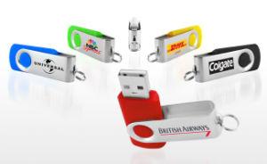 Plastic Swivel USB Flash Drive/ Pen Drive, Rotate USB Memory (PZS012) pictures & photos