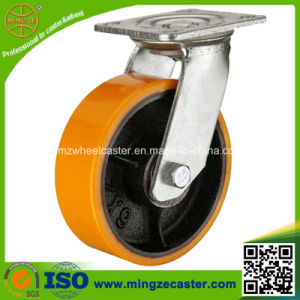 "ISO 6"" Heavy Duty Polyurethane Cast Iron Wheel pictures & photos"