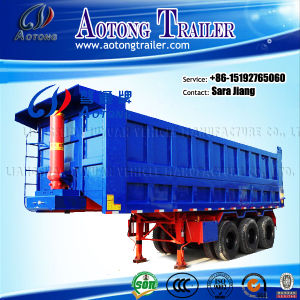 China Carbon Steel Dump Trailer with Hydraulic Cylinders pictures & photos