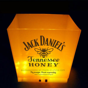 LED Illuminated Rechargeable Ice Bucket 10L Large Frosted Champagne Bucket pictures & photos