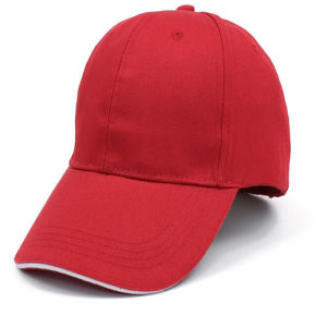 6 Panel Red Cotton Baseball Cap pictures & photos