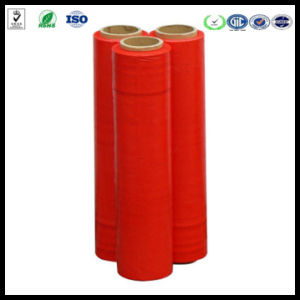 Cast 20mic LLDPE Stretch Wrap Film Red Stretch Film pictures & photos