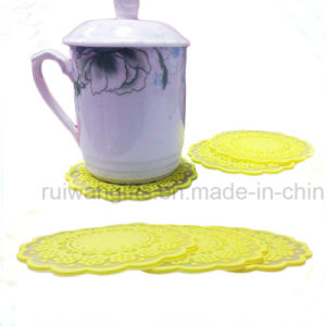 Lace Flaxible Silicone Cup Coaster pictures & photos