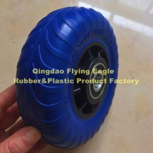 48X156 PU Polyurethane (Rubber) Handcart and Trolley Wheel pictures & photos