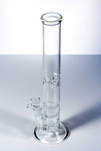 Bontek Triple Honeycomb Straight Glass Smoking Water Pipe pictures & photos