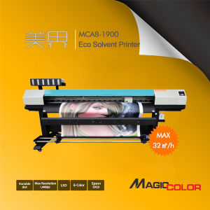 3.2m Large Format Eco Solvent Digital Printing Machine with Epson Dx10 for Banner pictures & photos