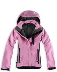 Fleece Lady′s Softshell Jacket (C113-02)