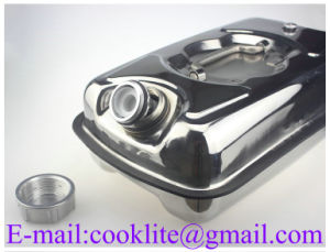 10L Stainless Steel Horizontal Oil Water Jerry Can Fuel Petrol Diesel Container with Spout pictures & photos