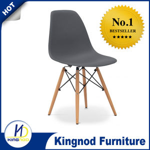 Cheap Wooden Leg Chair Plastic PP ABS Colorful Dining Chair Eames Dsw Dar Chair pictures & photos