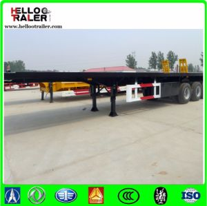 Manufacturer 3 Axle 40FT Container Flatbed Trailer Sale pictures & photos