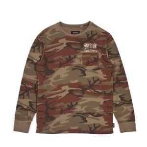 Men′s Cotton/Poly Jersey Camo Printed Long Sleeve T Shirt
