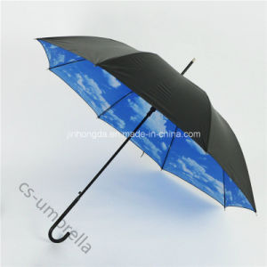 "22""X8k Durable Fiberglass Rib Sun and Rain Straight Umbrella (YSS0146-3)"