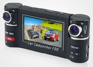 "HD 2.7"" LCD Night Vision Dual Cameras Lens Car Security Camera"