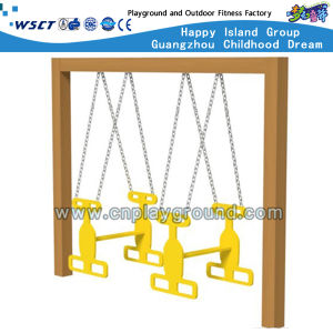 Excited Wooden Playground Swing Set on Stock (HD-SW-W002) pictures & photos