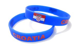 Promotional Silicone Wristband with Croatia Logo pictures & photos