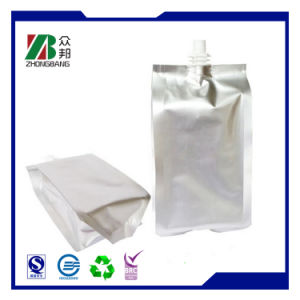 Silver Stand up Plastic Resealable Packaging Bag for Juice pictures & photos
