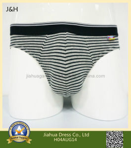 Mens Underwear Black & Gray H04aug14 Classic Stripes Hipster Hip Briefs