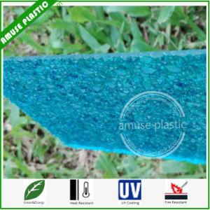 Lake Blue Corrugated Polycarbonate Embossed Diamond Sheet Plastic PC Panels pictures & photos
