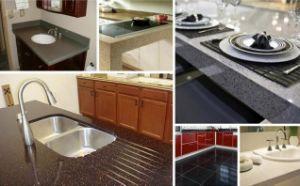 Striped Marble Kitchen Countertop & Vanity Top Quartz Slab pictures & photos