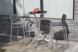 Outdoor Leisure Bar Stool with Round Table pictures & photos