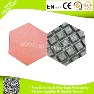 High Quality 20mm Water Drain Channels Hexagon Rubber Flooring Tile pictures & photos