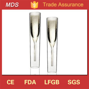 High Borosilicate Stemware Double Wall Glass Champagne Glass pictures & photos