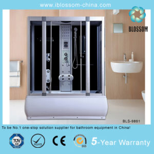 Corner 5mm Tempered Glass Complete Massage Steam Shower Room (BLS-9861) pictures & photos
