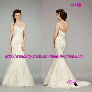 Exquisite Mermaid Sexy Sweetheart Bridal Dress with Beaded pictures & photos