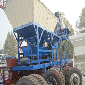 Mobile Building Batching Plant Yhzs25 Mobile Concrete Batching Plant pictures & photos