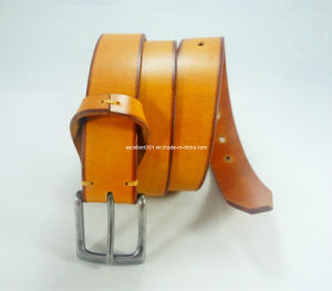 New Design Men Belt with Full Grian Leather pictures & photos