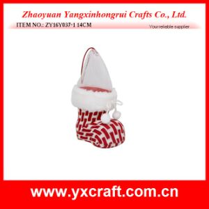 Christmas Decoration (ZY16Y037-1 14CM) Christmas Knitted Fabric Christmas Stocking Hangers pictures & photos