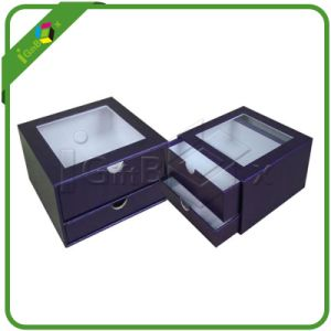 Two Layers Paper Drawer Box with PVC Window pictures & photos