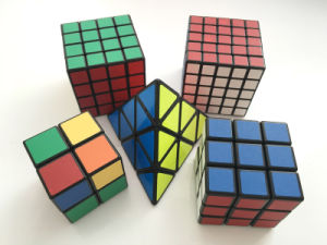 Speed Cube 3X3 Stickerless Colorful Enhanced Edition Smooth Magic Cube