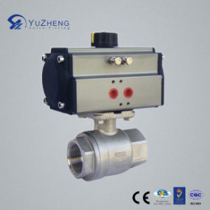 2PC Ball Valve with Pneumatic Actuator pictures & photos