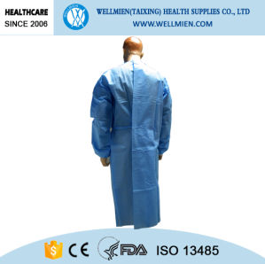Disposable Ultrasonic Bounding SMS/SMMS/Spunlace Doctor Gown pictures & photos