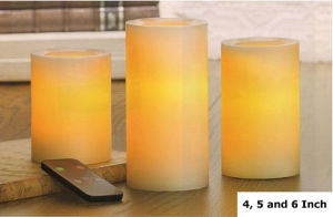 Candle Impressions Remote Control Candles 4-5-6 Inch with Dual Timer