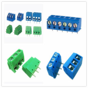 PCB Mount Screwless Terminal Block Connector pictures & photos