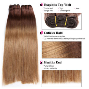 Peruvian Ombre Body Wave Hair 3 Bundles with Closure Ombre Hair with Closure 1b/4/27 Dark Roots Blond Ombre Hair with Closure pictures & photos