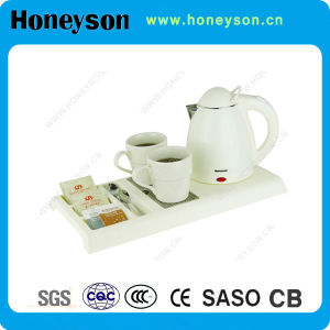 Most Popular Design Electric Kettle with Welcome Tray for Hotel pictures & photos