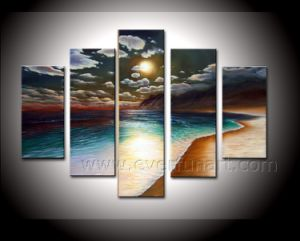 High Quality Handmade Canvas Art Seascape Oil Painting on Canvas (SE-187) pictures & photos