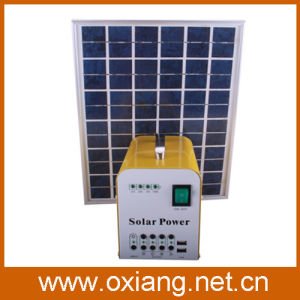 20W Solar Panel DC Portable Solar Home Lighting System pictures & photos