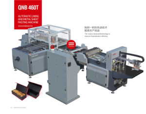 Book Cover Making Machine for Inner Paper with Steel Plate pictures & photos