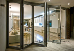 Standard Size Aluminium Glass Folding/Bifold Door/Bifolding Door pictures & photos
