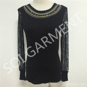 Fashion Women Knitting Clothes/Sweater with Accessories (SOITSW-07)