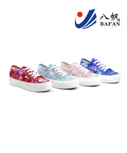 2015 New Arrival Lady′s Fashion Canvas Flat Casual Shoes (bfm0296) pictures & photos