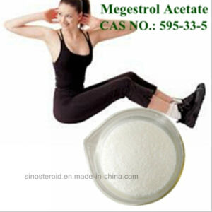 Raw Steroid Powder Progestogen Megestrol Acetate for Women 595-33-5