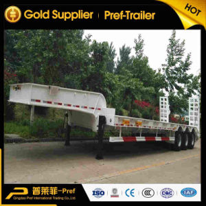 Tri Axle 40 Ton 14m Lowboy Low Loader Truck Trailer