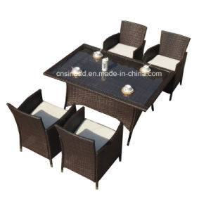 Indoor & Outdoor Rattan Furniture with 115*115*74cm / SGS (4007) pictures & photos