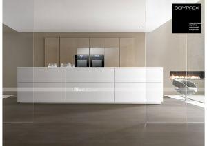 1shaped kitchen cabinet drawer slide white high gloss kitchen furniture